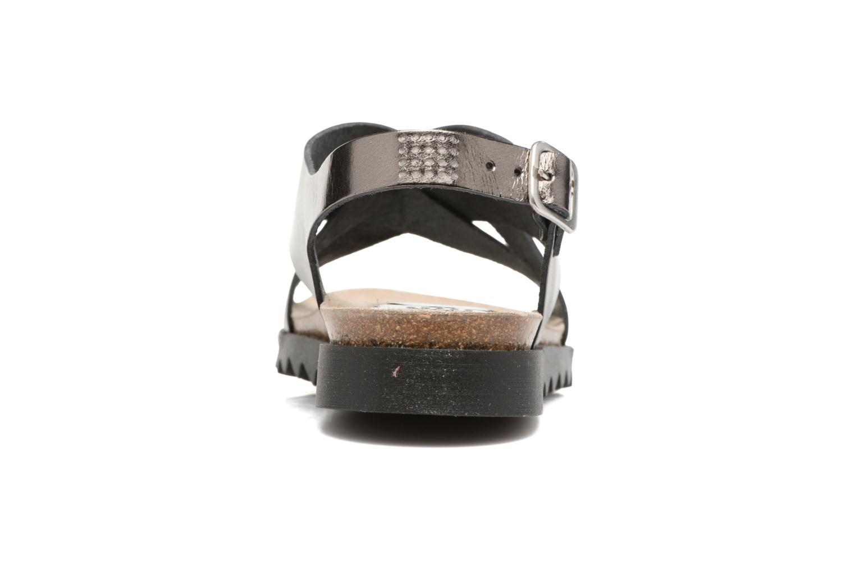 Sandales et nu-pieds TBS Tressie Or et bronze vue droite