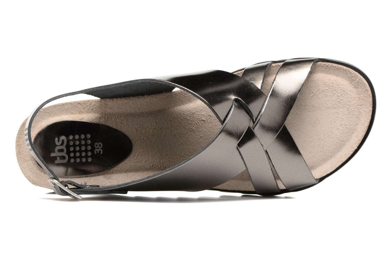 Sandales et nu-pieds TBS Tressie Or et bronze vue gauche