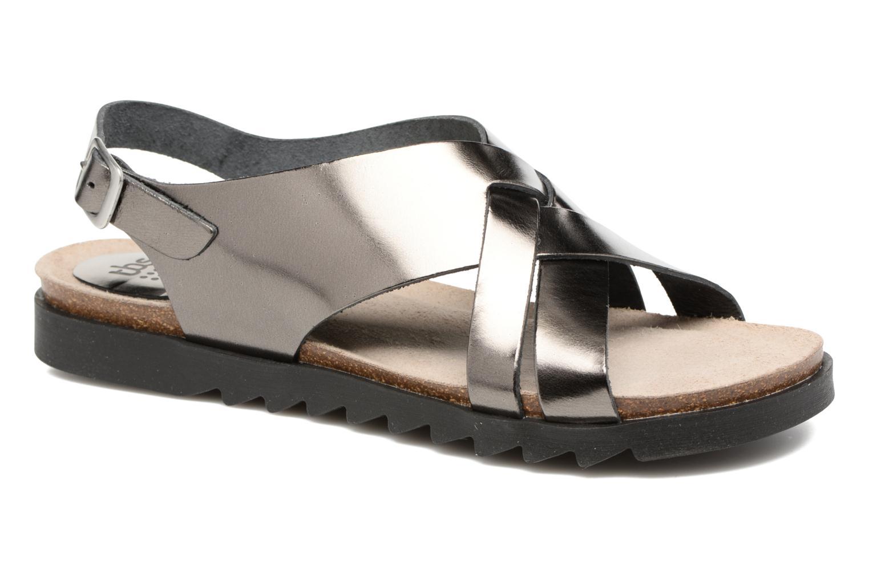 Sandales et nu-pieds TBS Tressie Or et bronze vue détail/paire