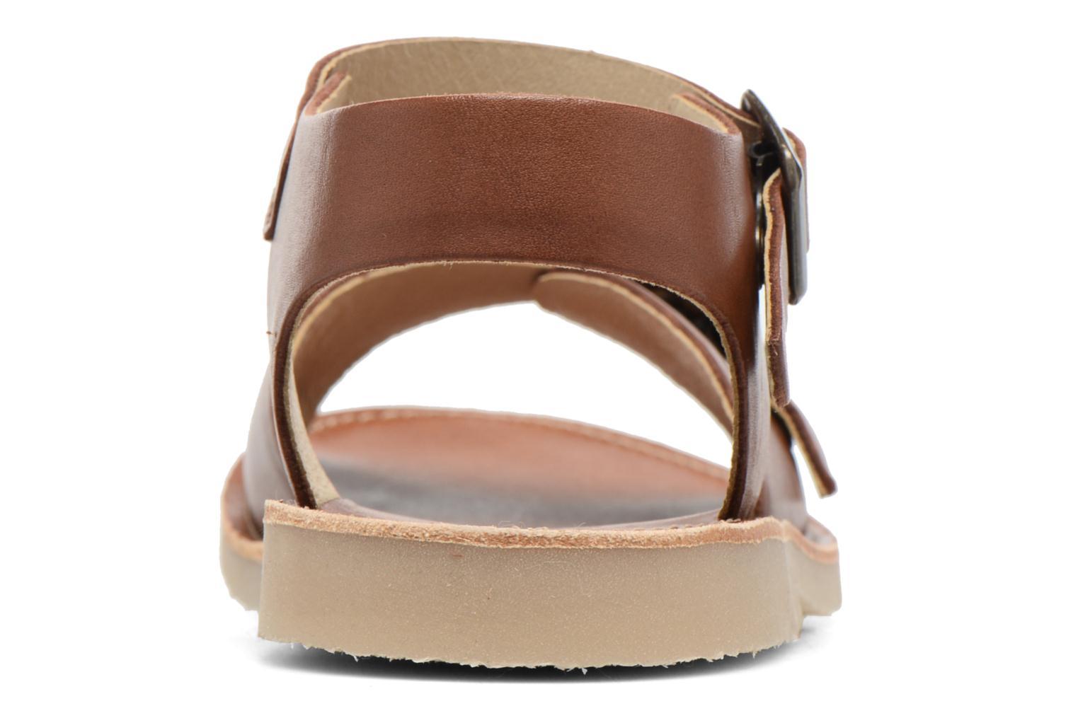 Sandales et nu-pieds Young Soles Sonny Marron vue droite