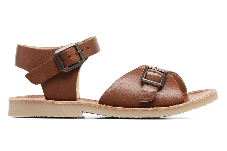 Sandales et nu-pieds Young Soles Sonny Marron vue derrière