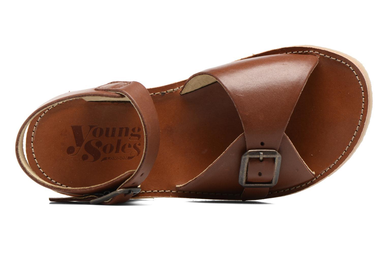 Sandales et nu-pieds Young Soles Sonny Marron vue gauche