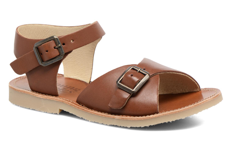 Sandales et nu-pieds Young Soles Sonny Marron vue détail/paire