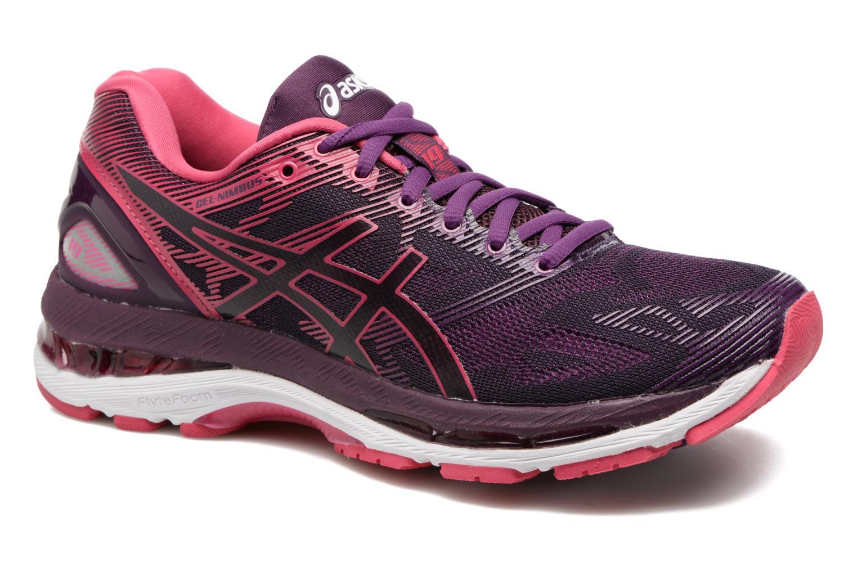 Chaussures de sport Asics Gel-Nimbus 19 W Violet vue détail/paire