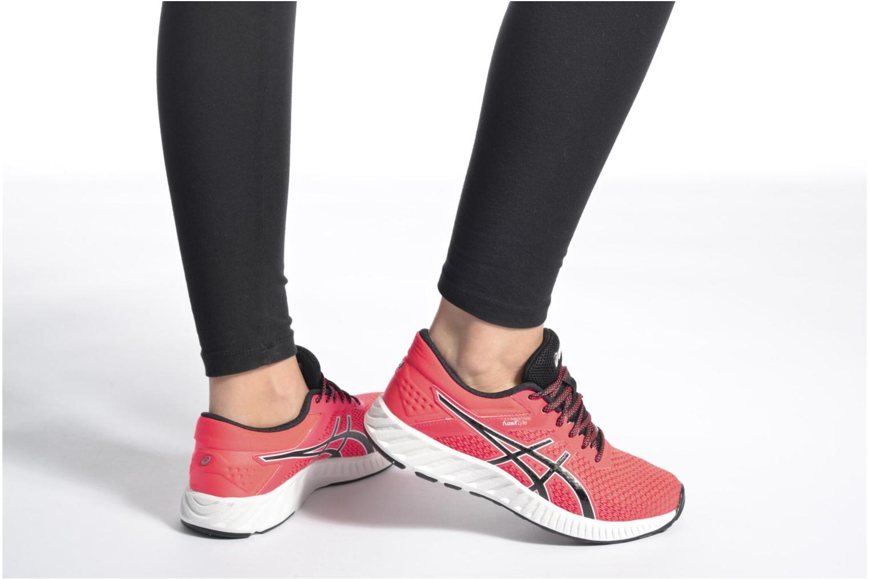 Chaussures de sport Asics Fuzex Lyte 2 W Rouge vue bas / vue portée sac