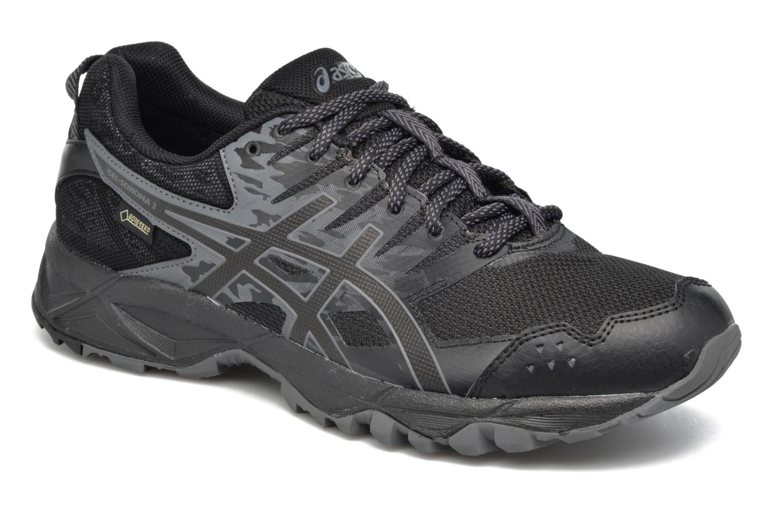 Sport shoes Asics Gel-Sonoma 3 G-Tx Black detailed view/ Pair view