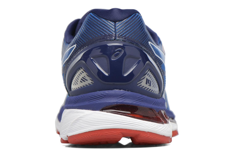 Chaussures de sport Asics Gel-Nimbus 19 Bleu vue droite