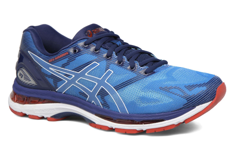 Chaussures de sport Asics Gel-Nimbus 19 Bleu vue détail/paire