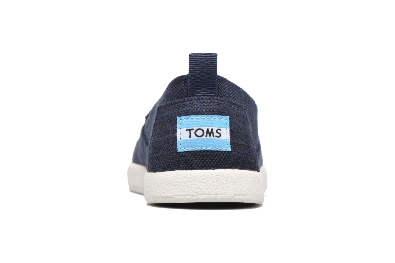 Baskets TOMS Avalon Bleu vue droite