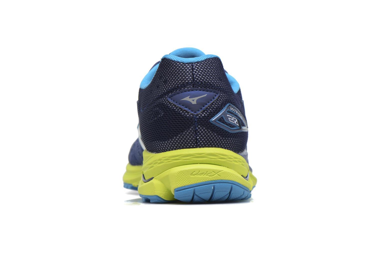 Chaussures de sport Mizuno Wave Rider 20 Bleu vue droite
