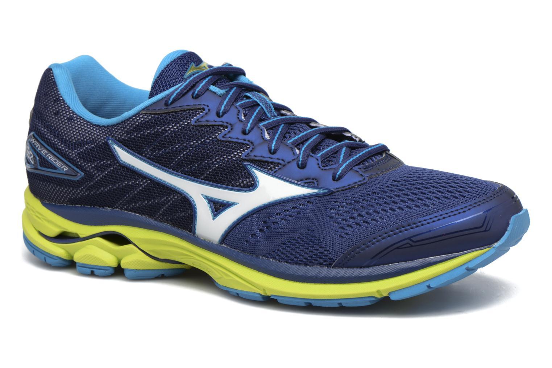 Chaussures de sport Mizuno Wave Rider 20 Bleu vue détail/paire