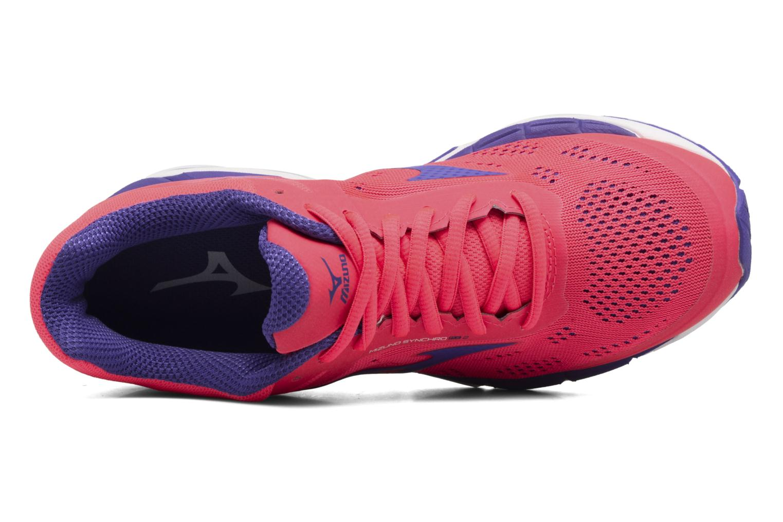 Chaussures de sport Mizuno Mizuno Synchro MX 2 W Rose vue gauche