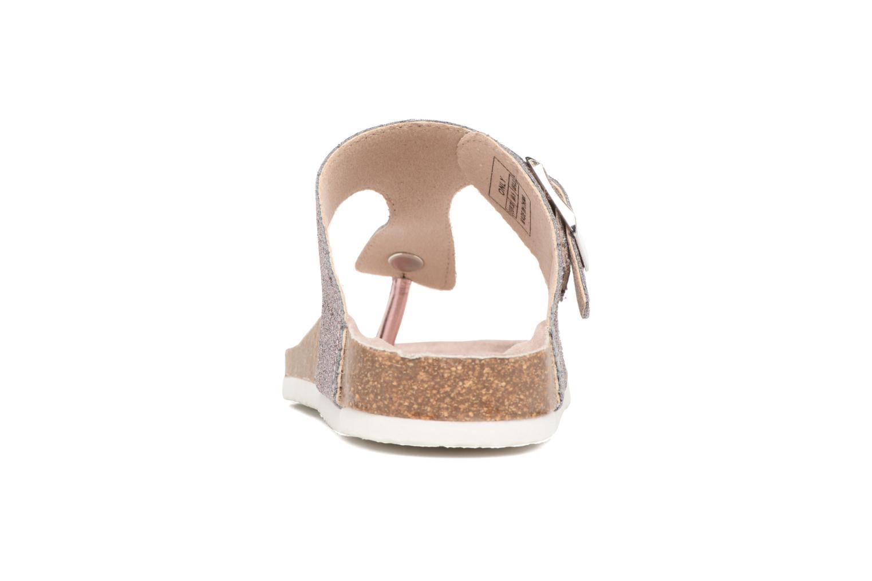 Mathilda Metallic Toe Spilt Sandal Pink Dogwood