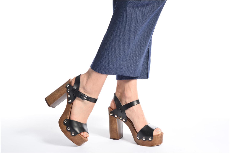 Sandales et nu-pieds Made by SARENZA Tennesse Sister #4 Noir vue bas / vue portée sac