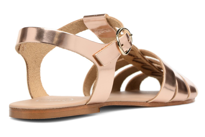 Sandalias Made by SARENZA Pastel Belle #1 Oro y bronce vista de frente