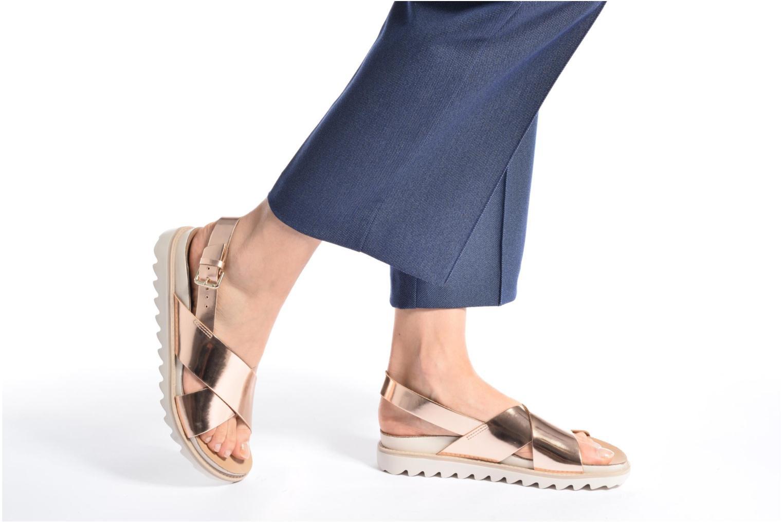 Sandales et nu-pieds Made by SARENZA Pastel Belle #8 Or et bronze vue bas / vue portée sac