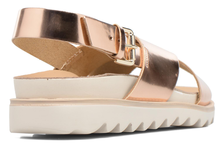 Sandales et nu-pieds Made by SARENZA Pastel Belle #8 Or et bronze vue face