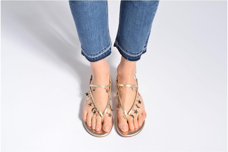 Sandales et nu-pieds Katy Perry The Celeste Or et bronze vue bas / vue portée sac