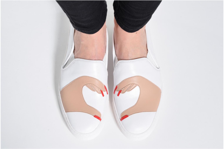 Baskets Katy Perry The Heart Blanc vue bas / vue portée sac