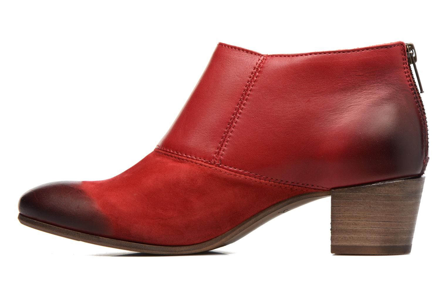 Bottines et boots Kickers Fresh Rouge vue face