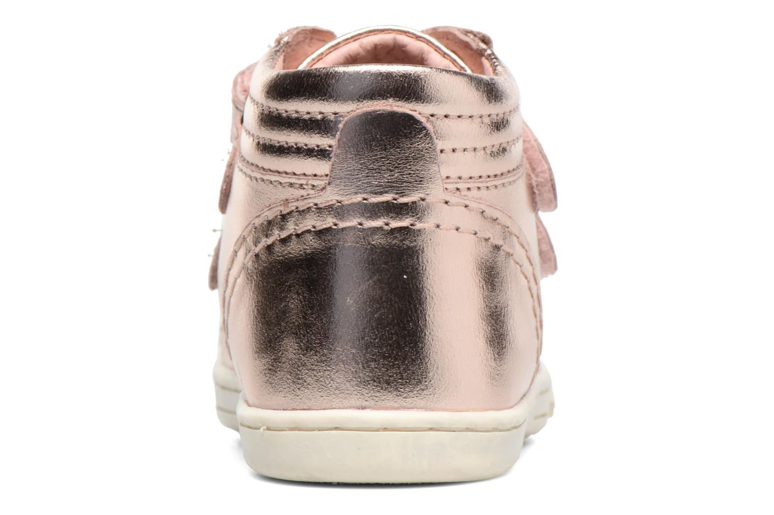 Baskets Kickers Trackpad Rose vue droite