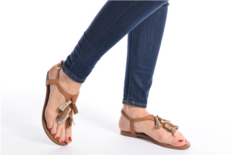 Sandales et nu-pieds Georgia Rose Molon Noir vue bas / vue portée sac