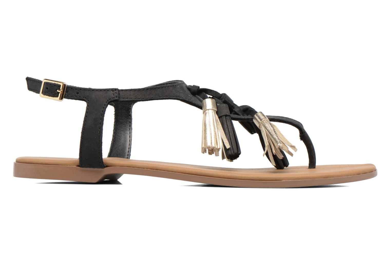 Sandales et nu-pieds Georgia Rose Molon Noir vue derrière