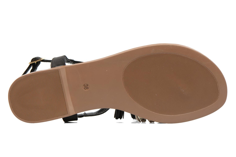 Sandales et nu-pieds Georgia Rose Molon Noir vue haut