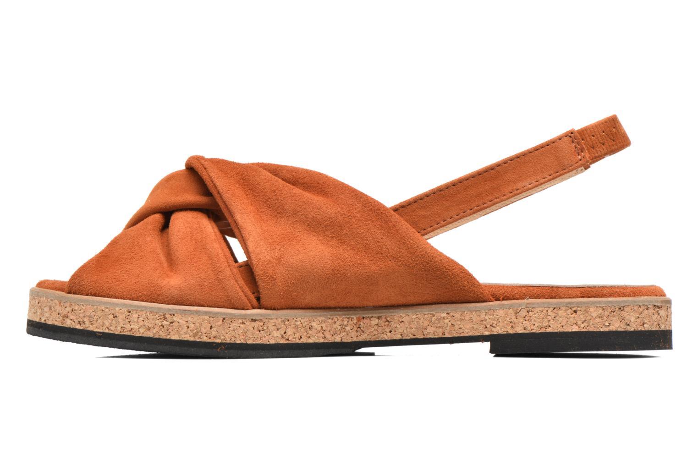 Sandales et nu-pieds Anaki Mismi Marron vue face