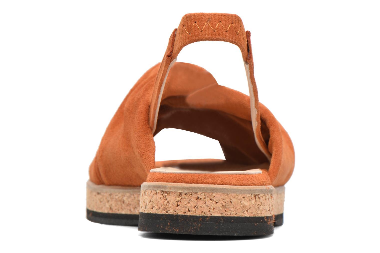 Sandales et nu-pieds Anaki Mismi Marron vue droite