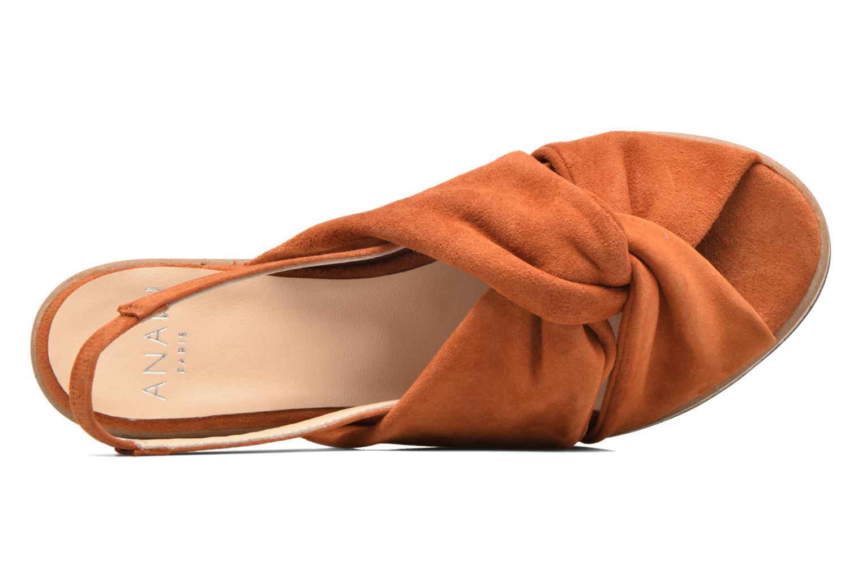 Sandales et nu-pieds Anaki Mismi Marron vue gauche