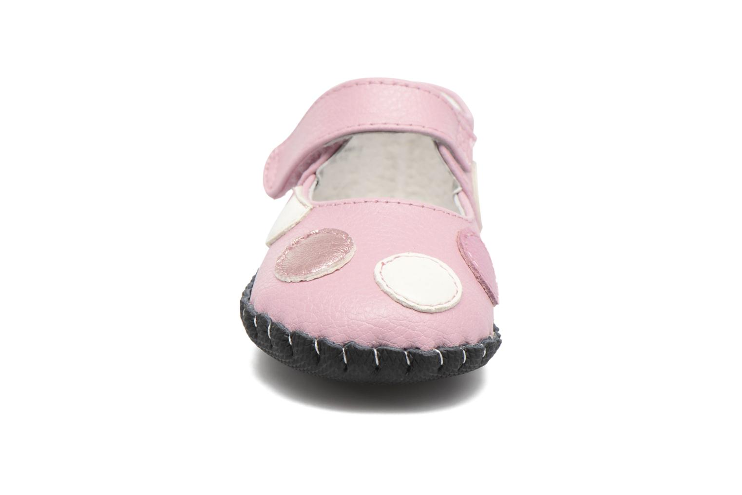 Chaussons Pediped Giselle Rose vue portées chaussures