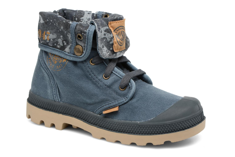 Bottines et boots Palladium Bgy Zip II K Bleu vue détail/paire