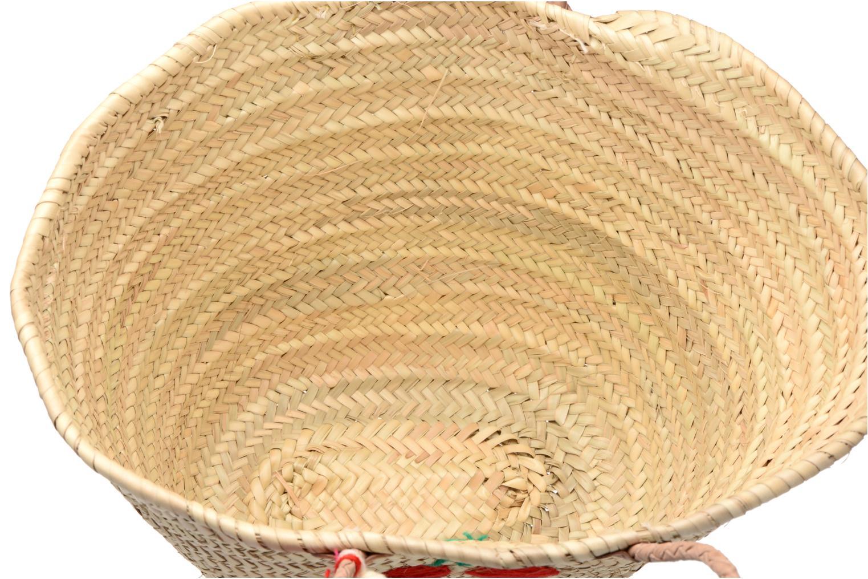 Handtaschen Etincelles Panier artisanal Cerise rot ansicht von hinten
