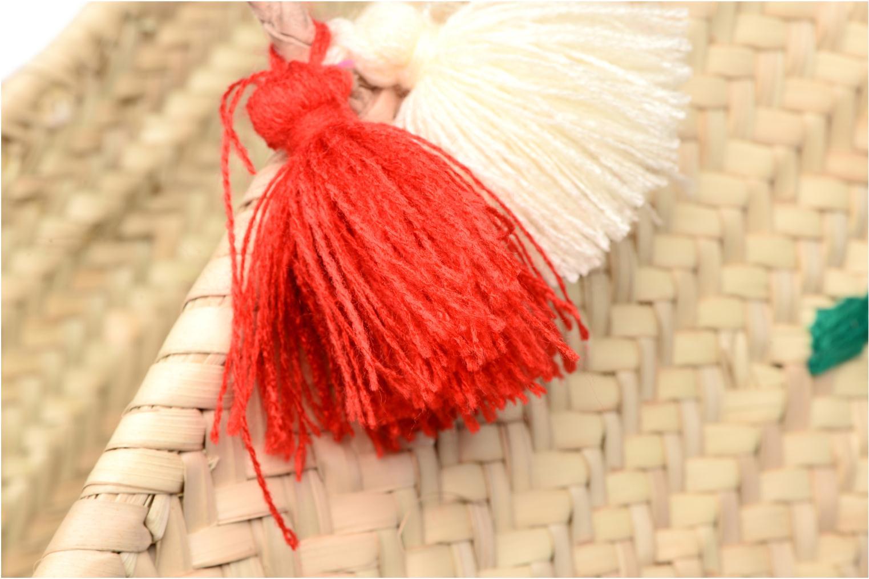 Bolsos de mano Etincelles Panier artisanal Cerise Rojo vista lateral izquierda