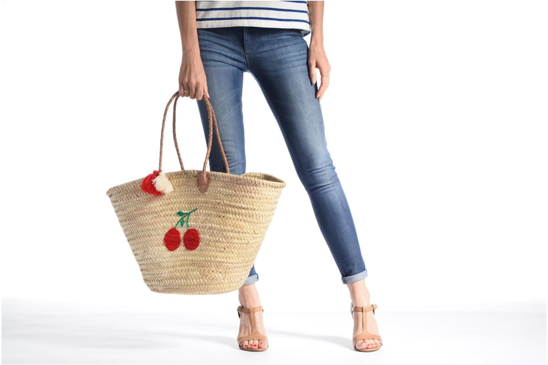 Handtaschen Etincelles Panier artisanal Cerise rot ansicht von oben