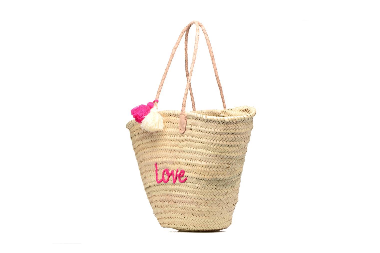 Handtassen Etincelles Panier artisanal Love Fuschia Roze model