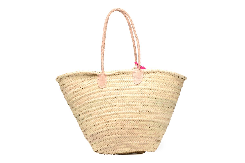 Handtassen Etincelles Panier artisanal Love Fuschia Roze voorkant