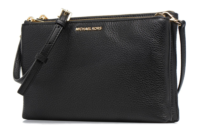 Handtaschen Michael Michael Kors ADELE DBL GUSSET CROSSBODY schwarz schuhe getragen