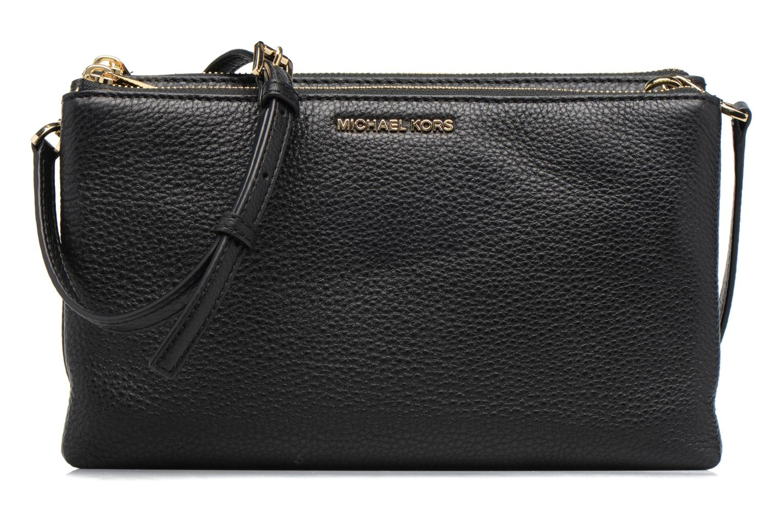 Handtaschen Michael Michael Kors ADELE DBL GUSSET CROSSBODY schwarz detaillierte ansicht/modell