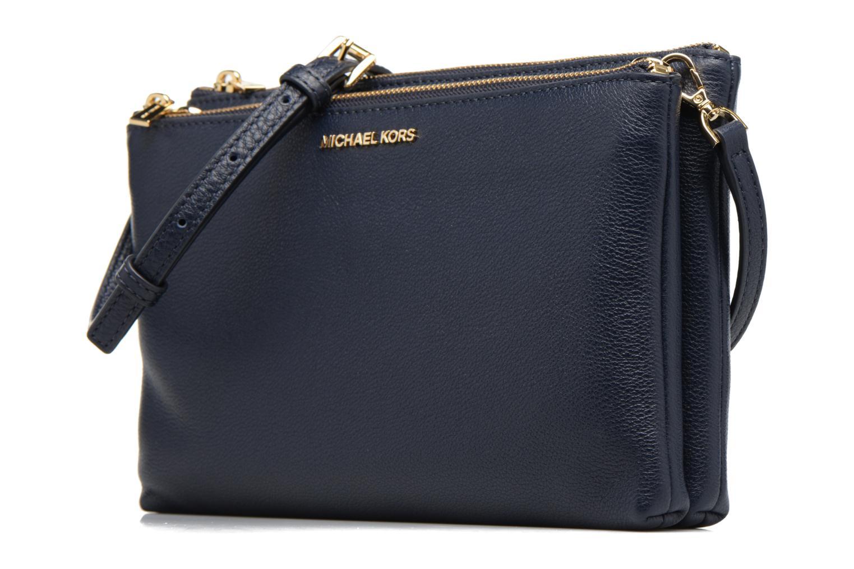 Handtaschen Michael Michael Kors ADELE DBL GUSSET CROSSBODY blau schuhe getragen