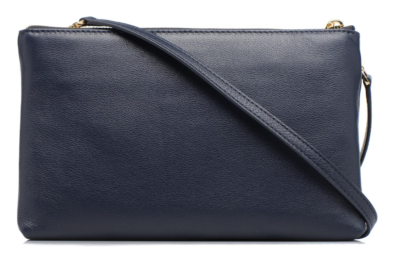 Handtaschen Michael Michael Kors ADELE DBL GUSSET CROSSBODY blau ansicht von vorne