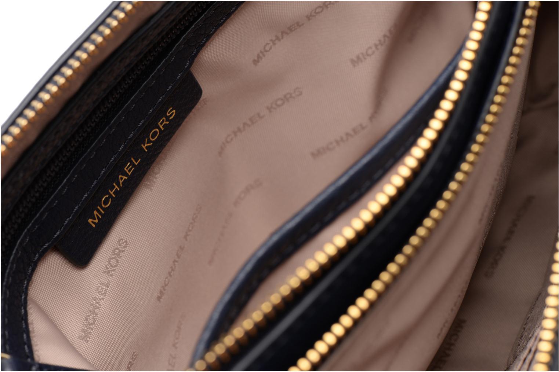 Handtaschen Michael Michael Kors ADELE DBL GUSSET CROSSBODY blau ansicht von hinten