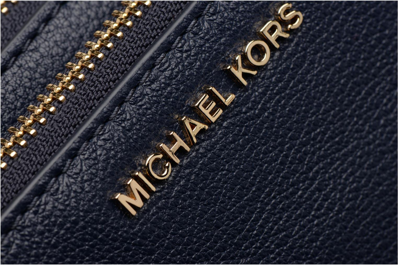 Handtaschen Michael Michael Kors ADELE DBL GUSSET CROSSBODY blau ansicht von links