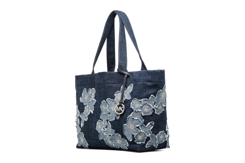 Handtaschen Michael Michael Kors DENIM ITEM XL TOTE blau schuhe getragen
