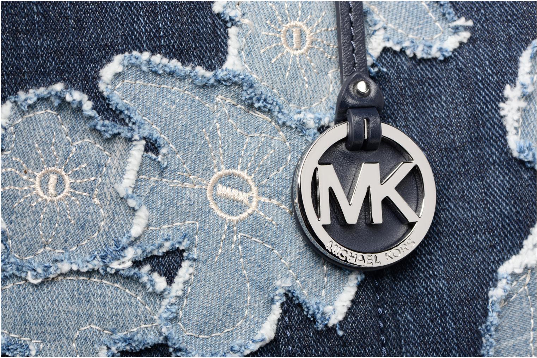 Bolsos de mano Michael Michael Kors DENIM ITEM XL TOTE Azul vista lateral izquierda