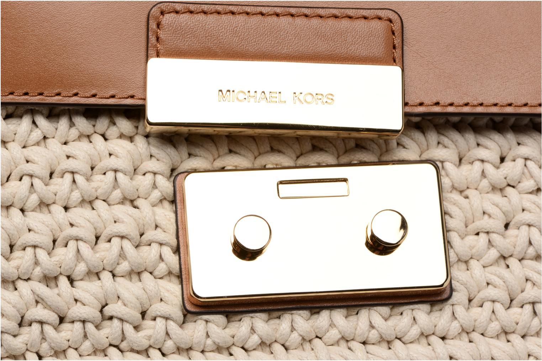 Bolsos de mano Michael Michael Kors SLOAN EDITOR LG CHAIN SHOULDER M Beige vista lateral izquierda