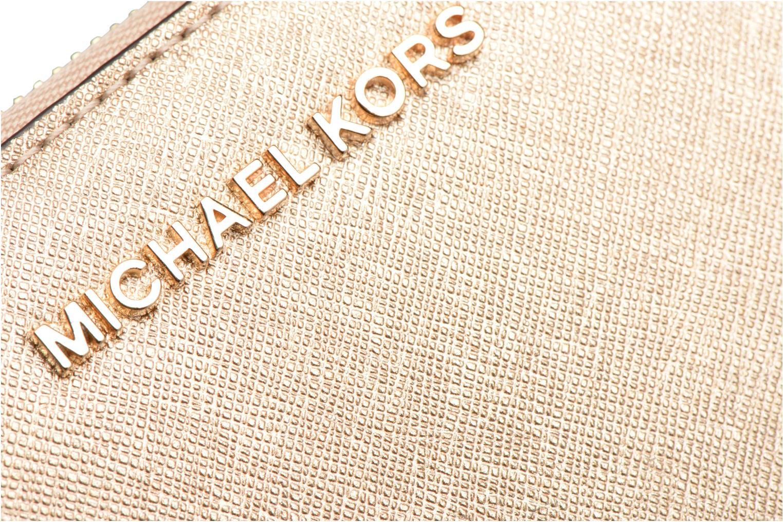Marroquinería pequeña Michael Michael Kors JET SET TRAVEL CONTINENTAL Oro y bronce vista lateral izquierda