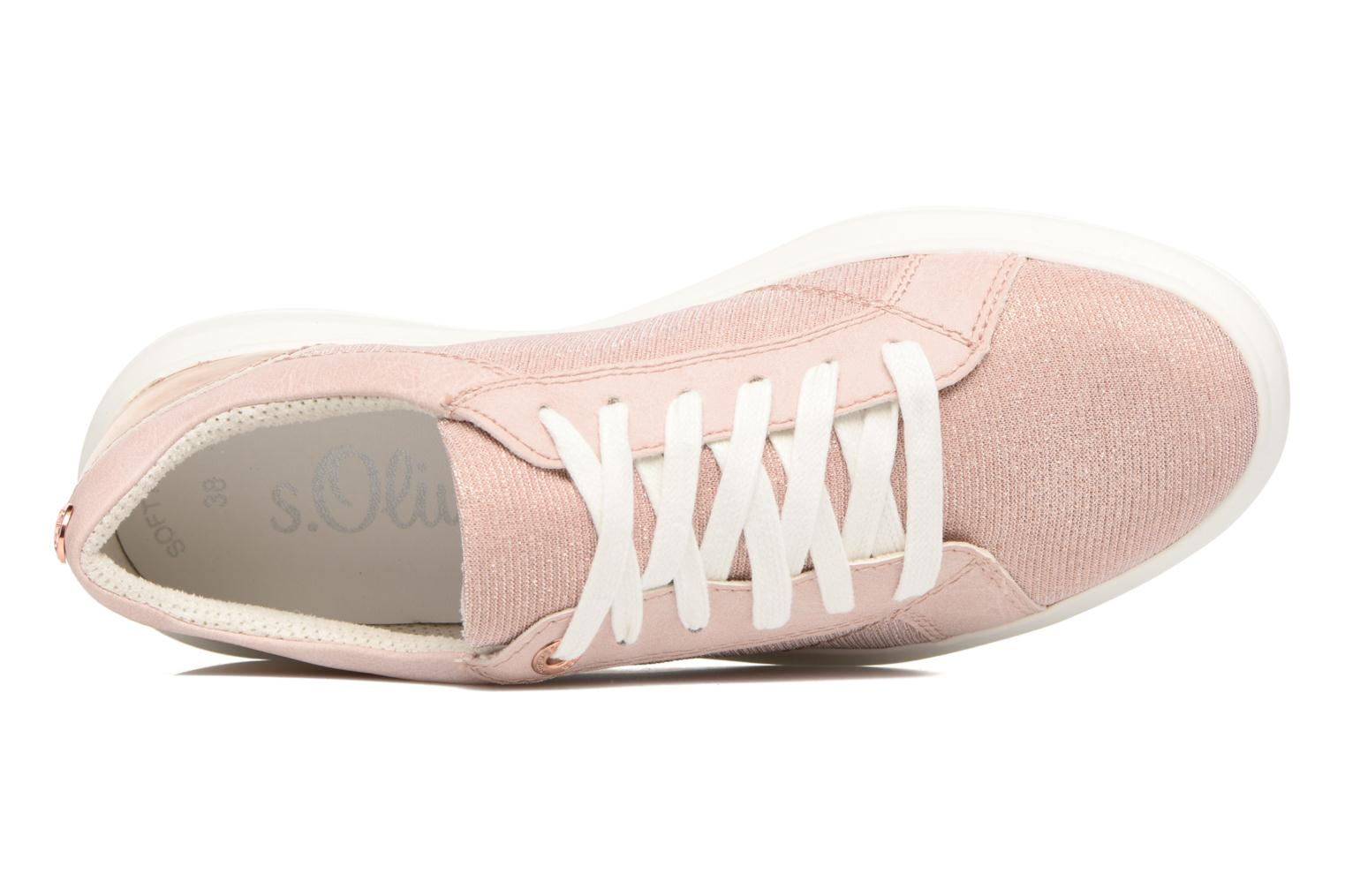Trainers S.Oliver Coing Pink view from the left