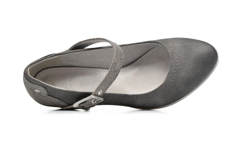 Zapatos de tacón S.Oliver Tadille Gris vista lateral izquierda